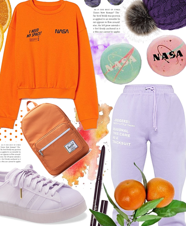 orange 🍊 and purple