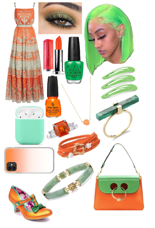 Orange And Green Outfit