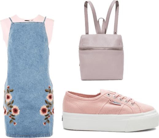 A dash of pink and blue