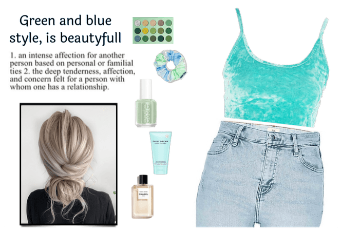 green and blue style
