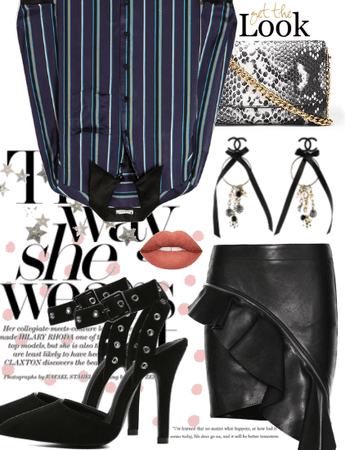 The YSL Leather Skirt;