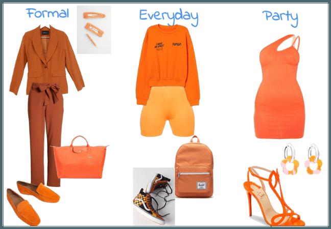 orange outfits