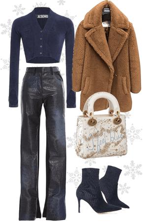 navy blue style / snow / winter