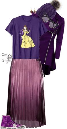 Warmly Purple (Curvy Girl Style)
