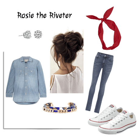 Rosie Riveter Halloween DIY