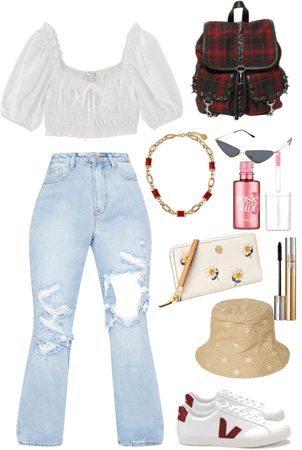 White and red Flower Aesthetic