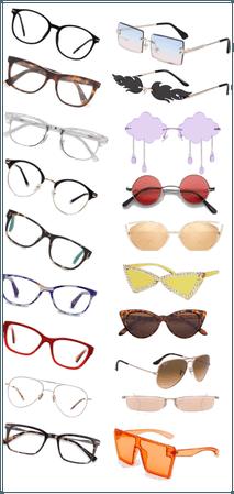 Sunglasses and glasses that I love