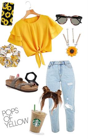 pops of yellow summer