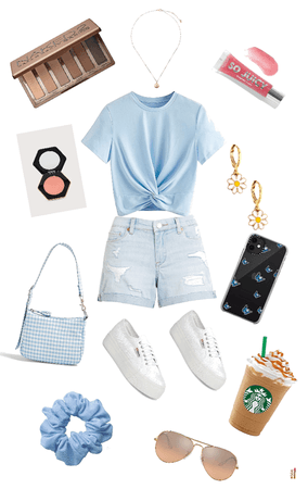 light blue casual outfit