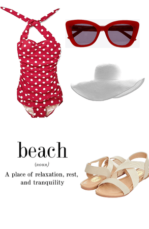 Vintage beach day