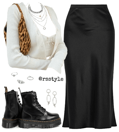 Casual midi skirt outfit