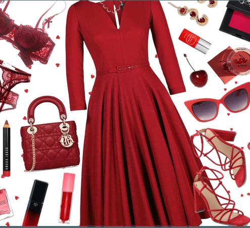 Cherry Red Monochrome