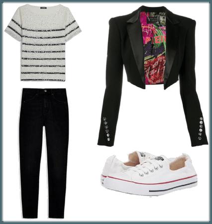 Outfit casual para cuerpo triángulo