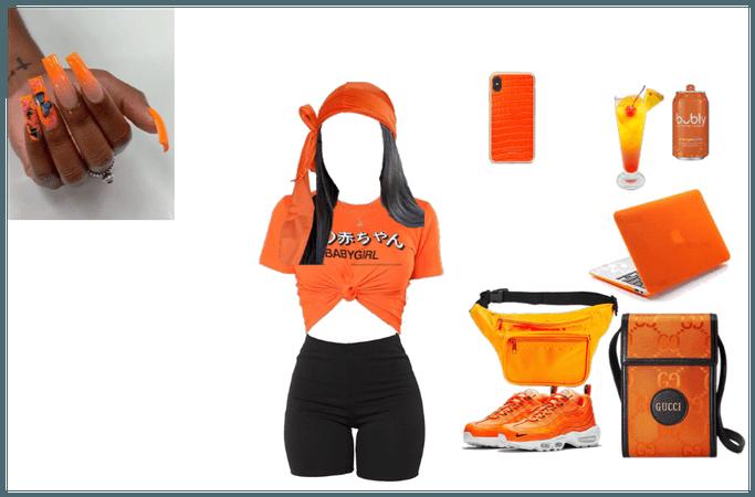 Orange fan