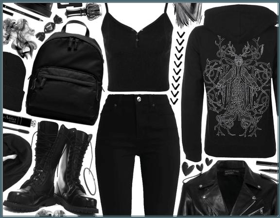 Hoodie Outfit: Metalhead