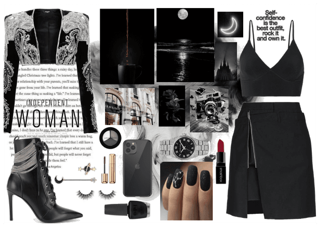 Elegant black & silver outfit