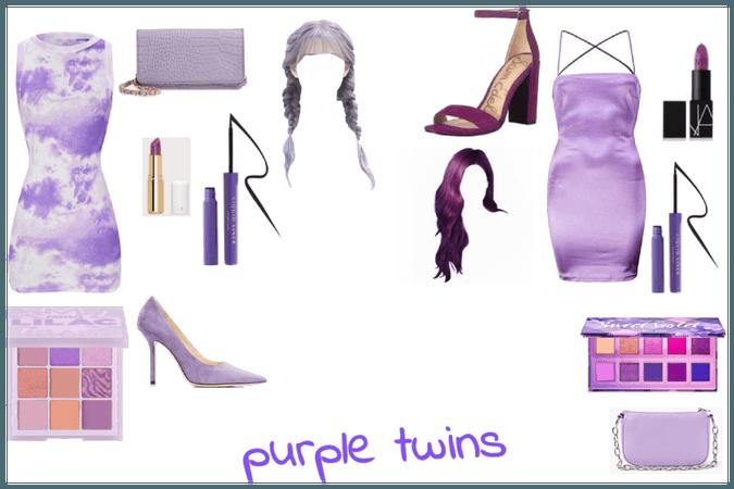 purple twins twin sisters purple day