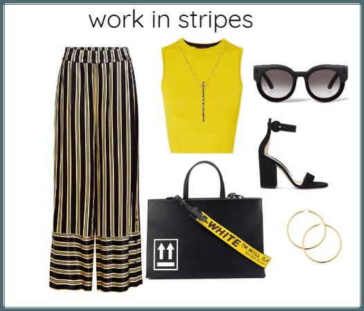 work in stripes