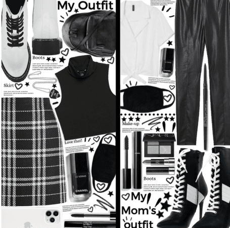 My outfit| my mom's outfit