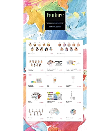 GLAMOÚR 1st mini album _FANFARE_ preorder goodies