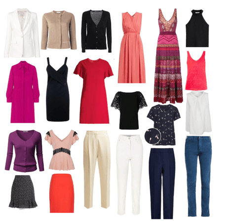 Capsule wardrobe for work and travel