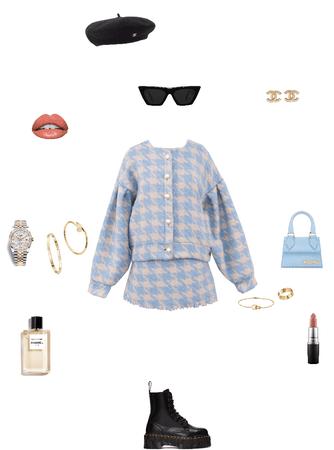 baby blue tweed