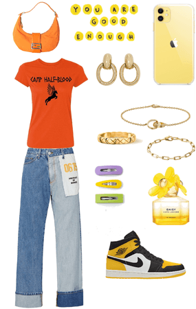 Fall outfit orange/yellow