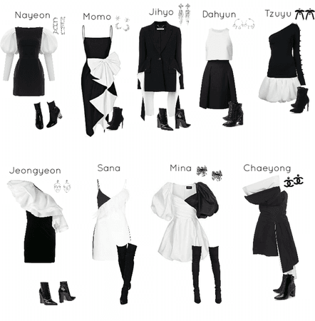TWICE red carpet outfits