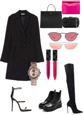 black + pink