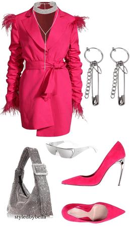 Pink dress fit