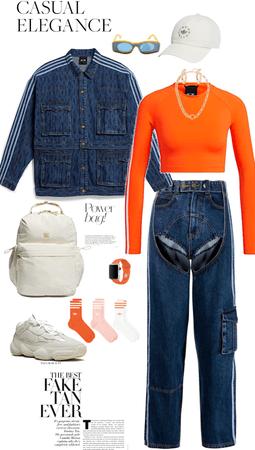 orange jean