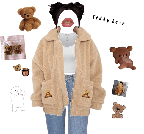 Teddy Bear outfit 🧸💕✨🤎