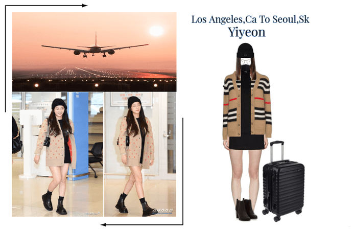 Yiyeon Airport Outfit