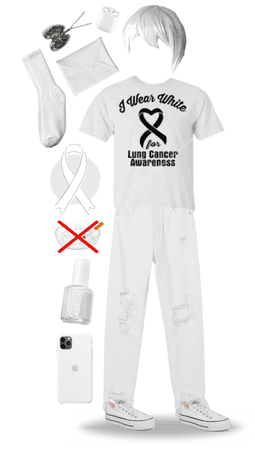 Lung Cancer Awareness Outfit
