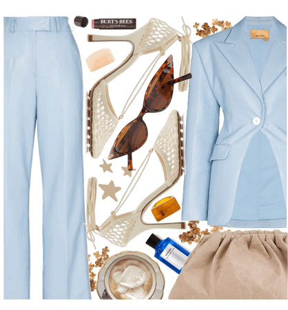 Fab in Blue and Cream