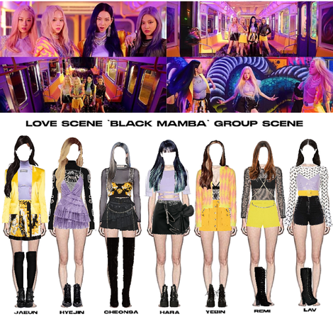 LOVE SCENE | THE 2ND DIGITAL SINGLE 'BLACK MAMBA' OFFICIAL MV | SECOND GROUP SCENE