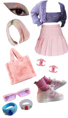 Pastel pink and purple