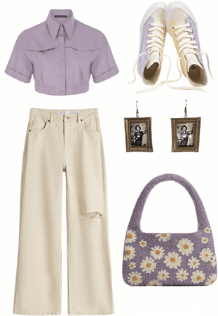 purple and yellow outfit thing