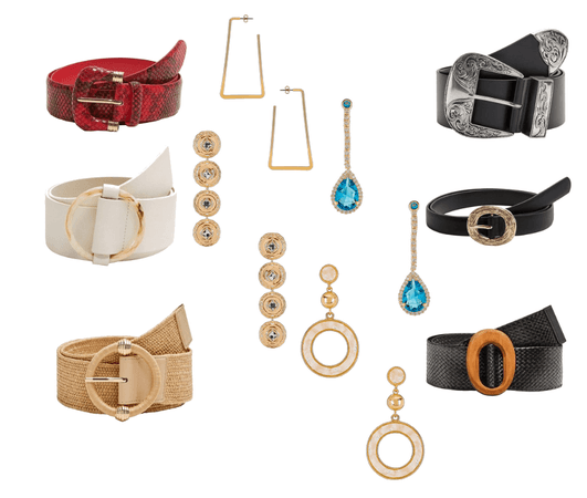 Accessories for inverted triangle body shape
