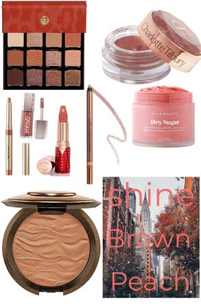 shine brown peach