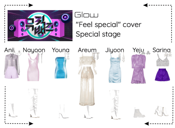 "Glow music bank ""Feel special"" cover special stage"