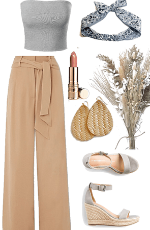 camel and heather grey