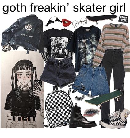 goth freakin' skater girl