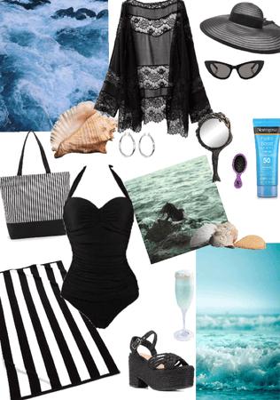 Gothic vintage Beach wear