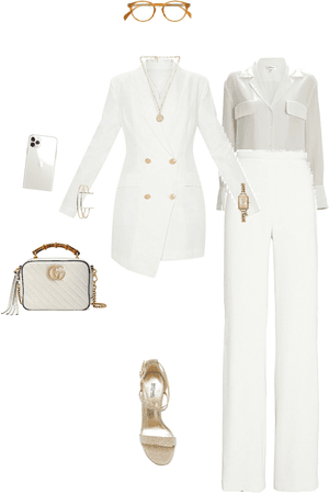 Total white with accessories