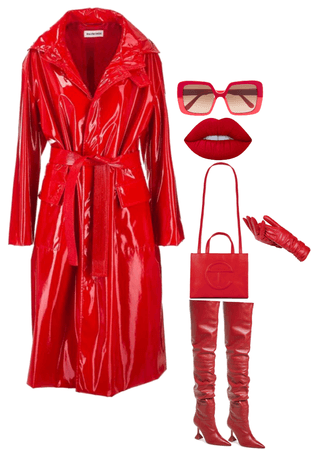 All Red Fall and Winter Look