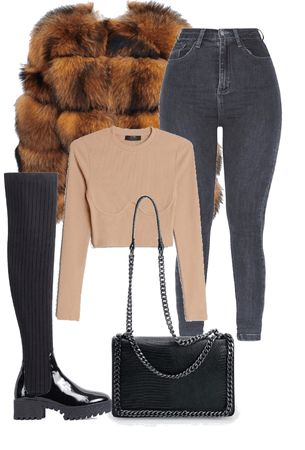 fur coat fit