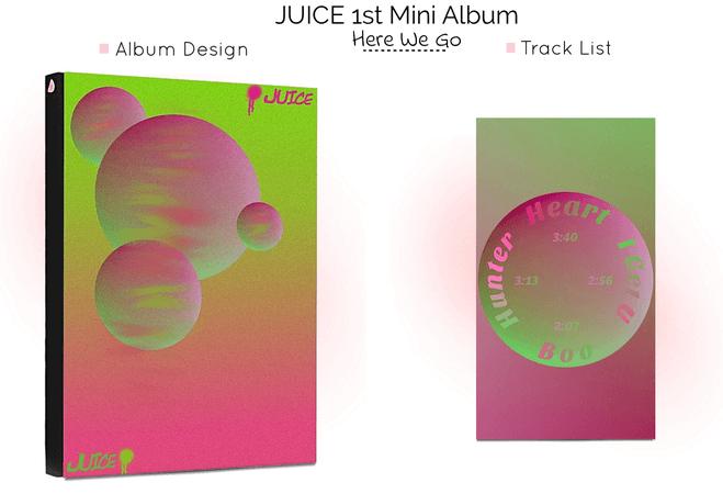 J.U.I.C.E 1st Mini Album - Here We Go Again + Track List