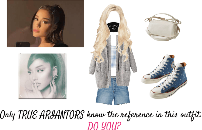 TRUE ARIANATORS- comment below what the Ariana Grande reference is in this outfit