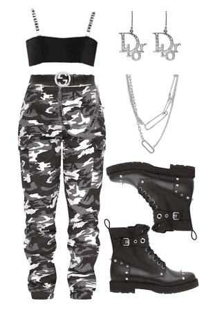camo stage outfit